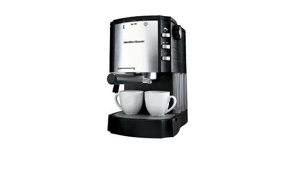 Hamilton Beach 40729 Independiente Semi-automática Máquina espresso Negro, Metálico - Cafetera (Independiente, Máquina espresso, Dosis de café, De café ...
