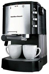 Hamilton Beach 40729 Independiente Semi-automática Máquina espresso Negro, Metálico - Cafetera (Independiente