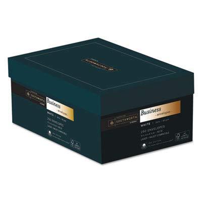 Southworth Credentials Collection™ 25% Cotton Fine Business #10 Envelopes, 24 Lb., White, Box Of 250