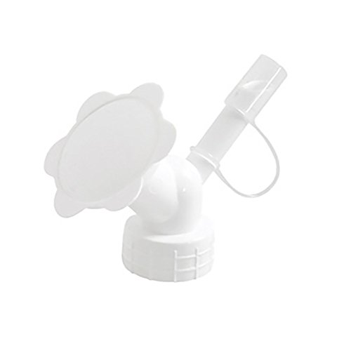 Lissom Bottle Cap Watering Sprinkler Dual Sided Bottle Watering Can Spout Cap Portable Nozzle for Watering Garden Indoor Flower Plant (White)