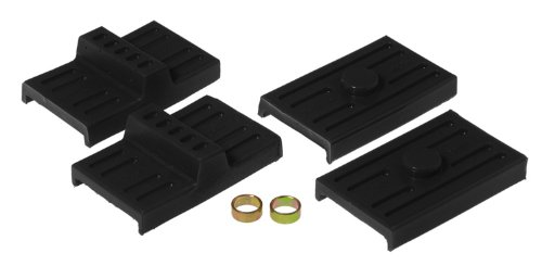 (Prothane 7-1709-BL Black Rear Upper and Lower Multi Leaf Spring Pad Kit)