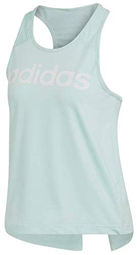 adidas Designed-2-Move Logo Tank Top Clear Mint 2 LG by adidas