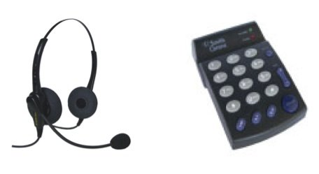 Smith Corona Classic Binaural Headset w/PD100 Dial Pad - Great for Home Office Professionals by Smith Corona