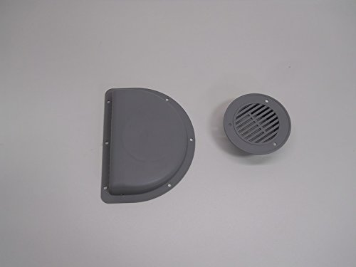 RV ATV Cycle Truck Cargo Work Trailer Side Air Vents Gray Closertowholesale