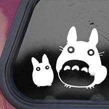 Totoro White Sticker Decal Studio Ghibli Wall Laptop Die-cut White Sticker Decal
