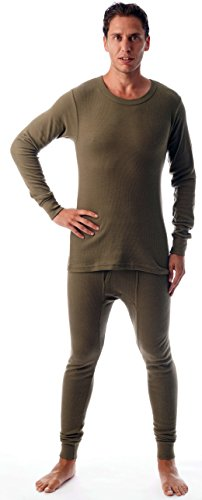 #followme Ultra Soft Thermal Underwear Set for Men 95963-Olive-L ()