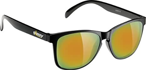 fd65de5e9604 Image Unavailable. Image not available for. Color: Glassy Deric Cancer Black /Gold Mirror Sunglasses