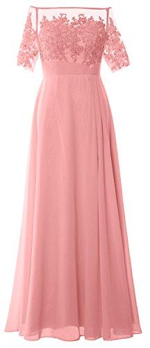 MACloth - Robe - Colonne - Femme -  rose - 38