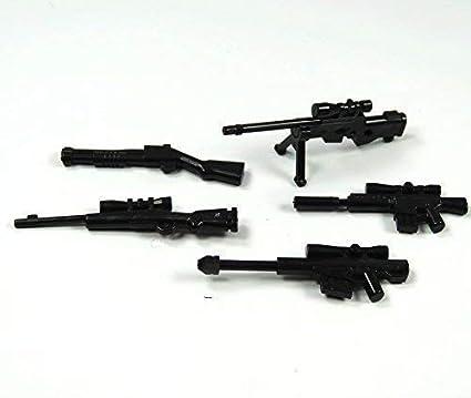 BrickGun Custom SWAT Policía Armas Set Francotirador 6 Piezas para ...