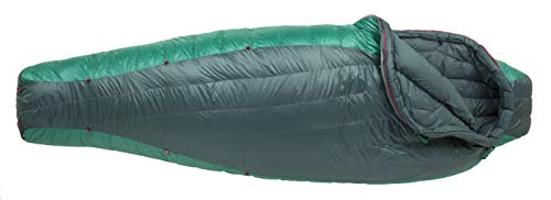 - Big Agnes Women's Hazel SL 15 (650 DownTek) Mummy Sleeping Bag, Regular, Right Zip, Teal/Green