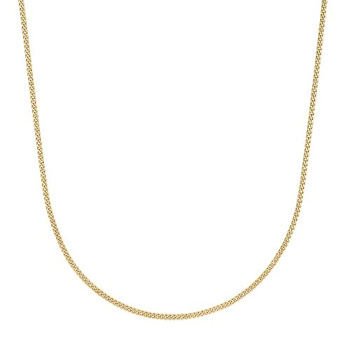 2.5mm Gold Plated Cuban Link Curb Chain Necklace, 24 Inches