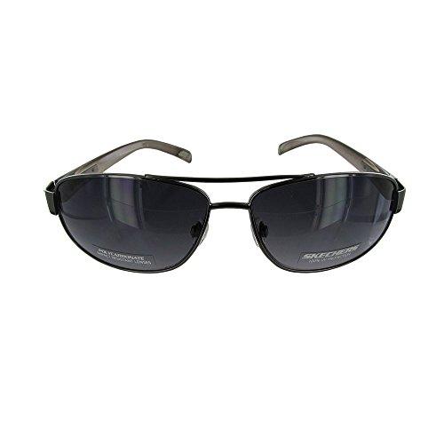 Skechers Mens SK 8002 Fashion Aviator Sunglasses, - Sunglasses Skechers