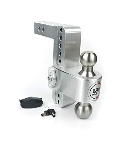 """Weigh Safe 180 Hitch: 8-inch (2"""" Shaft) LTB8-2 Adjustable Drop Hitch with Key Lock"""