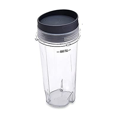 Ninja Blender Cup - 16 oz Single Serve to go Cup with Sip Lid | fits Ultima & Professional Series Nutri Ninja