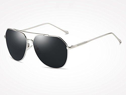 Revêtement Hommes Miroir Hommes Les Polarisées Lunettes Sunglasses silver gray Masculin de Pilote Lunettes TL Femmes pour Soleil pour Lunettes SxzqZq58w