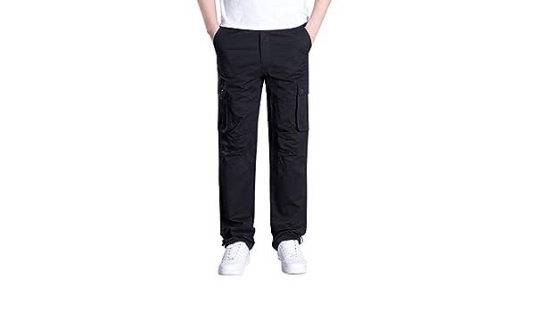 Geilisungren Pantalones Cargo de Trabajo para Hombre - Resistentes y con numerosos Bolsillos Pantalones Rectos Multi-Bolsillo al Aire Libre de los Hombres Pantalones de Deporte Rectos(Negro, XL): Amazon.es: Ropa y accesorios