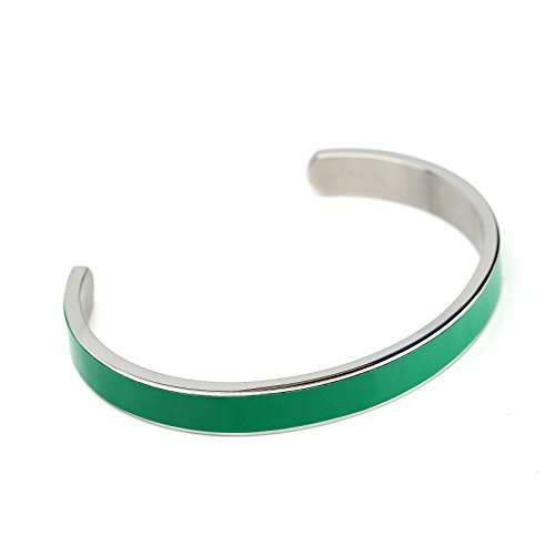 United Elegance Stylish Designer Bracelet with Exquisite Caribbean Sea Green Inlay from United Elegance