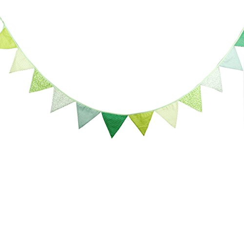 Multi Colored Fabric Bunting For Party Birthday Wedding Anniversary Celebration Baby Shower
