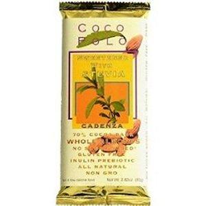 Coco Polo - Coco Polo 70 Percent Almond Dark Chocolate Bar, 2.82 Ounce -- 10 per case.