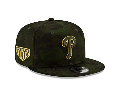 New Era Philadelphia Phillies 2019 Armed Forces Day 9FIFTY Adjustable Snapback Hat (Washington Nationals Green Hat)