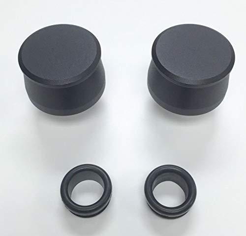 Pirate Mfg Hot Rod Black Billet Aluminum Valve Cover Breather Kit W/Grommet SBC BBC V8 ()