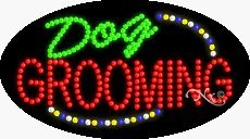Made in USA 27 x 15 x 1 inches Dog Grooming LED Sign