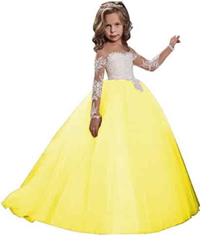 5c41f85c101 KSDN Girls Toddler Pageant Dress Princess Ball Gown Flower Princess Girls  Dress
