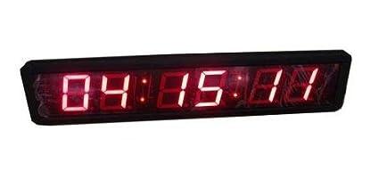 """Godrelish 2.3 """"alto carácter LED reloj de pared digital cronómetro de cuenta atrás y"""