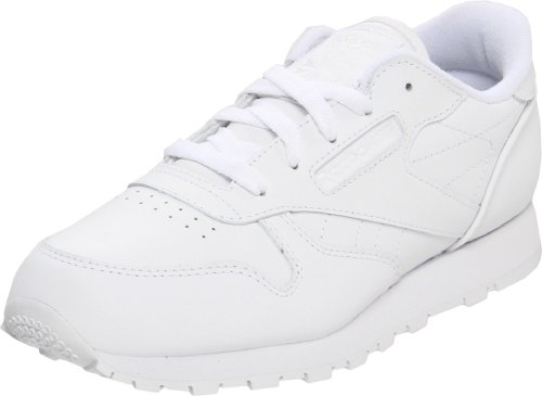 Reebok Classic Leather Shoe,White/White/White,3.5 M US Big Kid