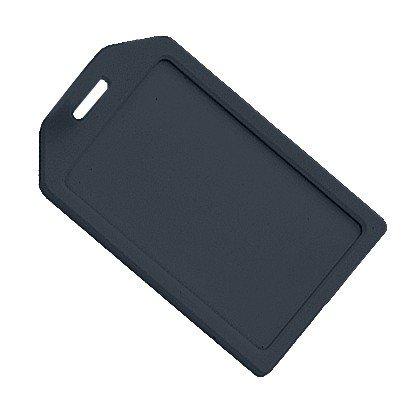 Rigid Luggage Tag (Black Rigid Plastic Luggage Tag Holder and included 6