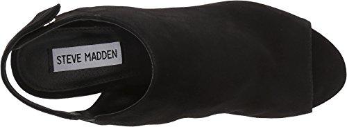 Picture of Steve Madden Women's NONSTP Heeled Sandal, Black Suede, 7 M US