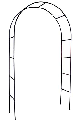 Choies Garden Arch Iron Black Outdoor Patio for Climbing Plant and Wedding,Round Top, 4'5