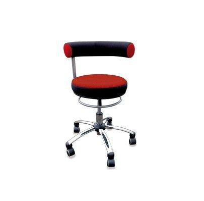 Sanus Gesundheitsstuhl Erzieherstuhl, Sitzhöhe standard (42-51 cm), rot/schwarz