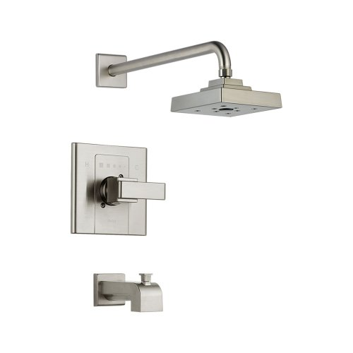 Delta Faucet T14486-SS Arzo Monitor 14 Series Tub and Shower Trim, Stainless (Arzo Series Single Handle)
