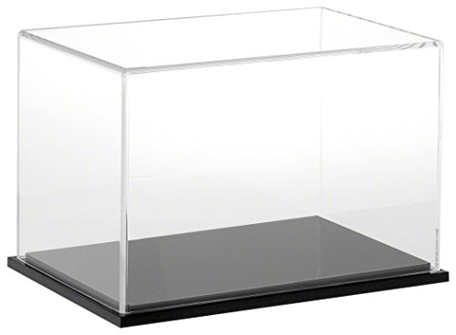 Plymor Clear Acrylic Display Case with Black Base, 9 W x 6 D x 6 H