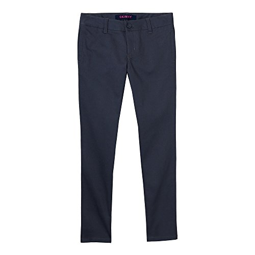 French Toast Girls' Little Stretch Twill Skinny Leg Pant, Heather Gray, ()