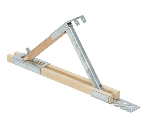 Qualcraft 2510 Adjustable Wood/Steel Roof Bracket, 12-Inch (Roofing Bracket)