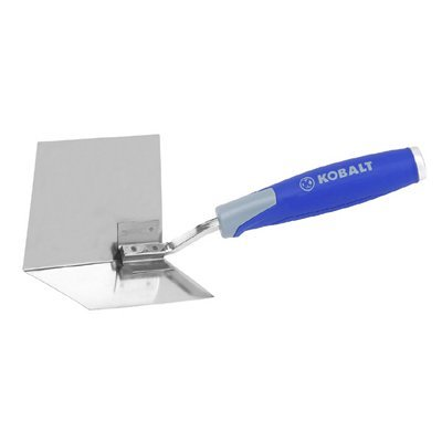 KOBALT SMALL INSIDE CORNER TROWEL STAINLESS STEEL RUBER HANDLE 0245659 LIFE TIME WARRANTY (Steel Trowel Corner)