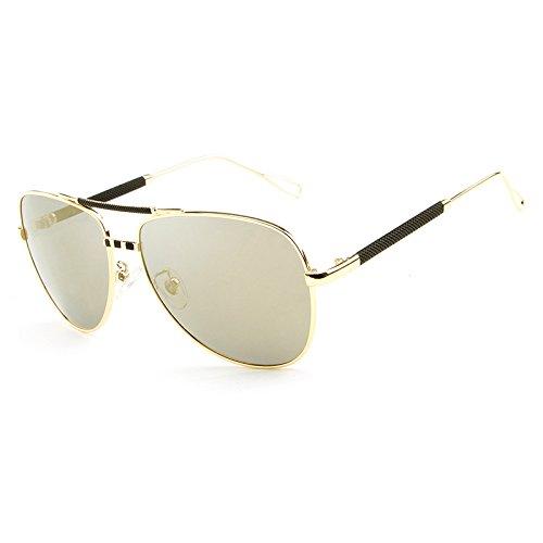 polarizadas de Gafas Gafas viaje UV clásica Yellow hombres sol Gafas de Gafas Gafas Sol De sol de vendimia la la gafas marca Diseñador MXNET de de masculinas de de piloto gqAY4yfqt