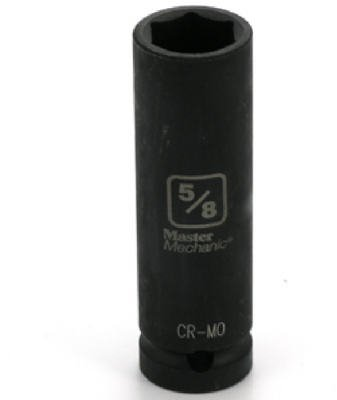 "Standard Plumbing Supply 454986 APEX TOOL GROUP-ASIA Master Mechanic 1/2"" Drive 6 Point Deep Well Impact Socket, 5/8"""