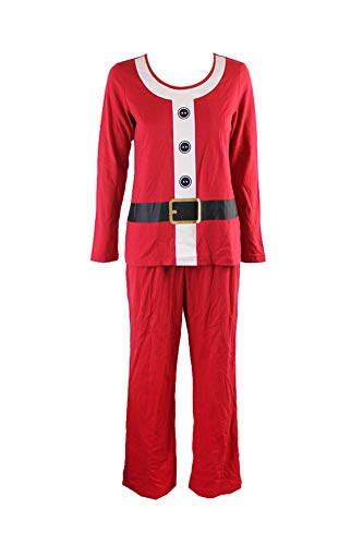 Family Pajamas Women's Santa Suit Pajama Set, Red, Small
