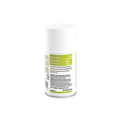 - Brighton 2612138 Aerosol Refill Metered Air Freshener Lemon Lime 7 Oz. 4/Ct