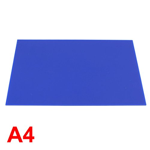 Uxcell a15041500ux0382 3 mm Thick Blue Plastic Acrylic Plexiglas Sheet, A4 Size, 210 mm x 297 mm by uxcell