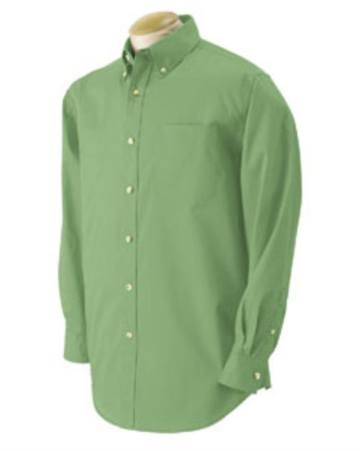 Devon & Jones Men's Long Sleeve Five-Star Performance Twill Button Down Dress Shirt D555 green Small - Devon And Jones Twill Shirt