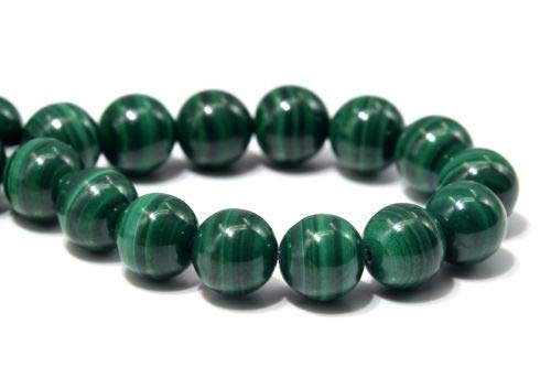 6mm Genuine Natural Malachite South Africa Round Gemstone Loose Beads 7.5'' Crafting Key Chain Bracelet Necklace Jewelry Accessories Pendants ()