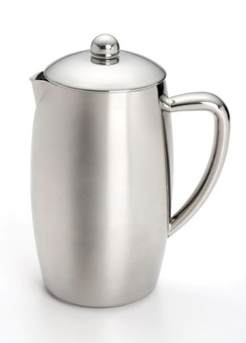 - BonJour Coffee Self-Insulated Stainless Steel French Press, 33.8-Ounce, Triomphe