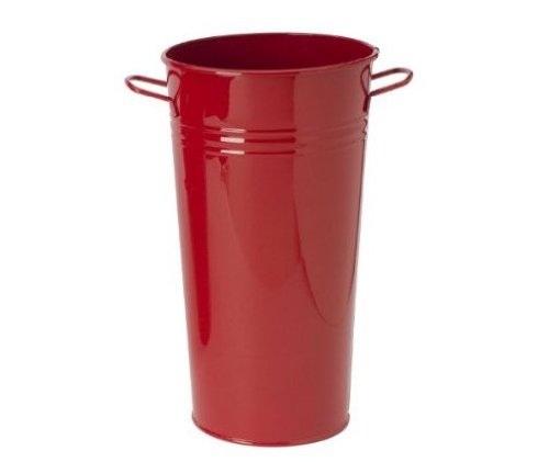 Houston International 8300E XR 7-Inch Steel Vase, Red ()