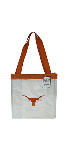 Game Day Outfitters NCAA Texas Longhorns Clear PVC Ladies Purse, One Size, Multicolor by Game Day Outfitters