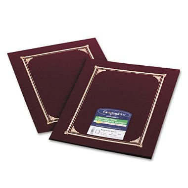 Geographics 45333 Certificate/Document Cover, 12 1/2 x 9 3/4, Burgundy, 6/Pack