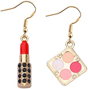 WSNANG Lipstick 3-d Earrings Estheticians Gift Makeup Artist Jewelry Gift for Women Teens Girl